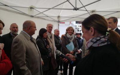 Inauguration de la plaque du label «Patrimoine d'intérêt régional» dans la cité Payret-Dortail à Vanves