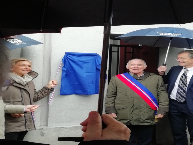 Inauguration plaque Vanves