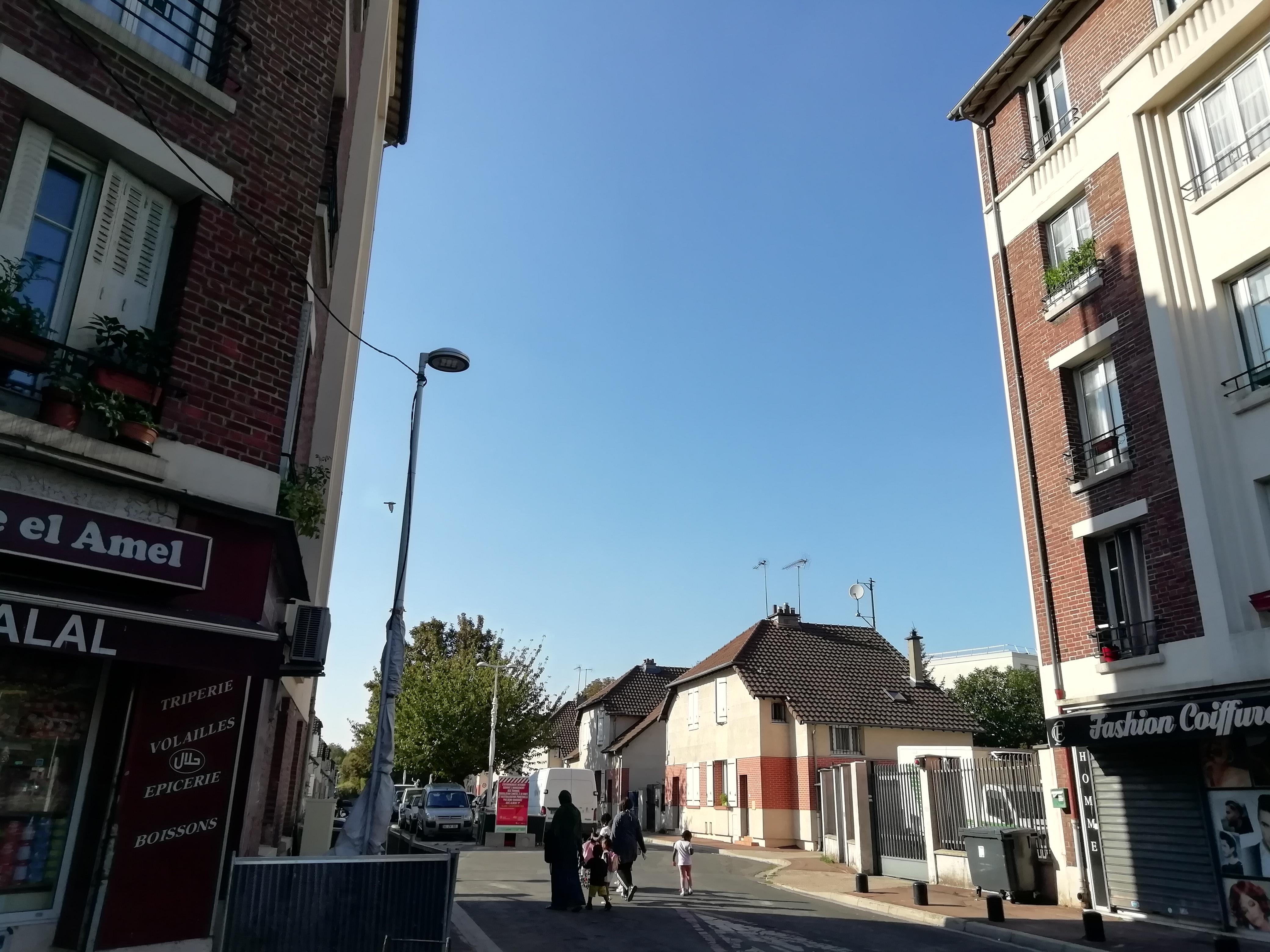 Entrée cité albert 1er immeubles et pavillons La Courneuve