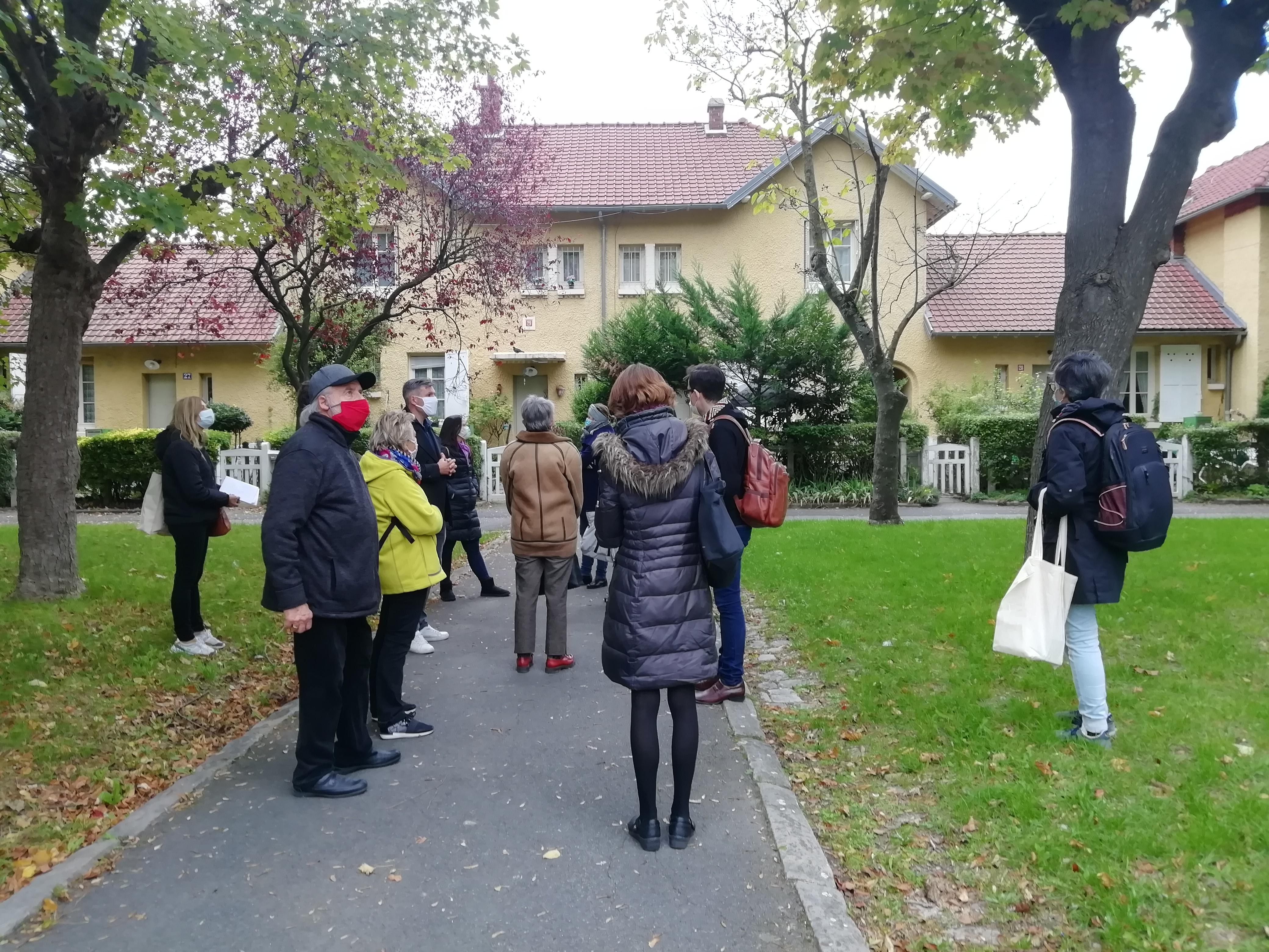 Les cités-jardins en automne / Visite de la cité-jardin de Stains